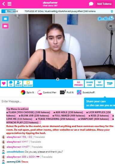 CamSoda Mobile Version With Cam Girl